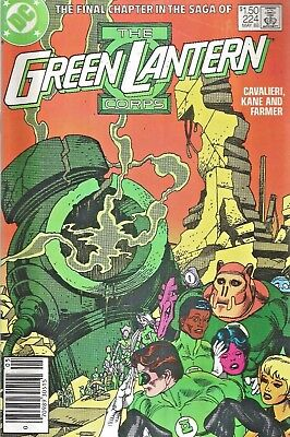 Green Lantern Corps #224  Giant-Size Last Issue  Gil Kane  Dc 1988  Nice!!