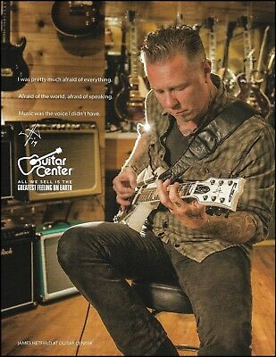 Metallica James Hetfield Signature ESP Iron Cross Guitar Center 8 x 11 ad