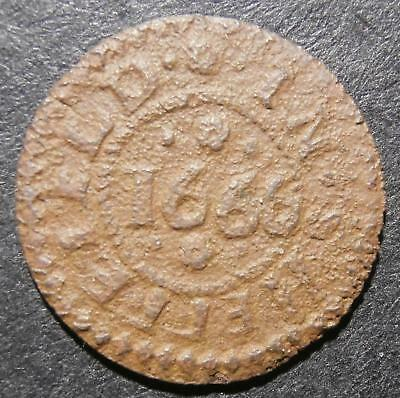 17th century farthing token - Bedfordshire Sheffeield 1666 William Groves D.88