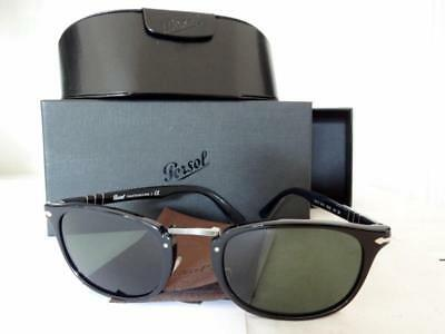 Persol Sunglasses 3127-S Black Typewriter Edition Italian Hand Made Top Quality