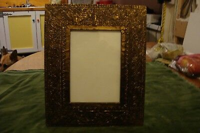 Brass Arts & Crafts Style Repro Picture Frame