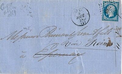 LETTRE ANCIENNE  1859 Culset pour Epernay