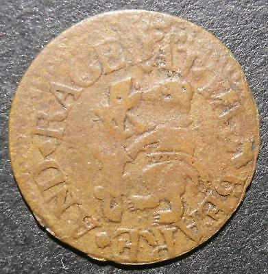 17thC farthing token - Southwark Borough at The Beare and Raged Stafe - D.289