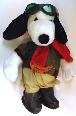 """1986 Peanuts SNOOPY as FLYING ACE LE of 2500 PLUSH DOLL by Determined - 18"""""""