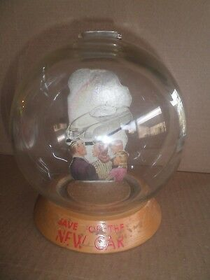 """Great old original Vic Moran """"Save for the New Car"""" Bubble Bank c. late 1940's"""