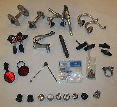 Lot of Vintage Bicycle Bike Parts Campagnolo Shimano Weinmann Schwinn 3T & more