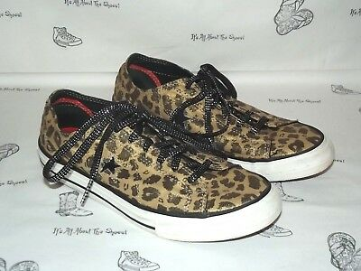 CONVERSE One Star Leopard Print Canvas Sneakers Womens Size 8.5