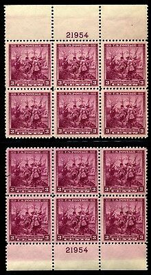US Scott 836 Landing of the Swedes and Finns Mint NH matched set Pl. Blocks