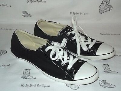 CONVERSE Chuck Taylor All Star Slim Black Canvas Sneakers Womens Size 8.5