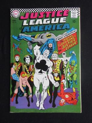 Justice League of America #54 - HIGH GRADE - DC 1967 - The Royal Flush Gang app!