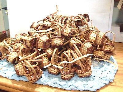 48 Mini Wicker Woven Baskets Party Favors Crafts New Wholesale