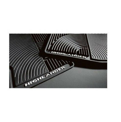 Fits Toyota Highlander Hybrid 08-13 4PC All Weather Black Rubber Floor Mats OES