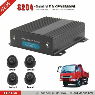 4CH Channel AHD Car Mobile DVR SD 3G Wifi GPS Realtime Video Recorder+4xCamera#G