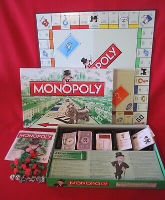 Hasbro U.k.  Monopoly - With 'the Cat' Token - Complete - As New Condition