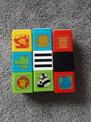 ELC Baby 9 SEE THROUGH EFFECT Stacking Cubes, BABY, autism, ASD toys