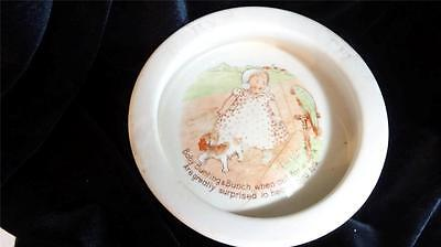 Vintage Unsigned Baby's Plate Baby Bunting and Bunch Nursery Rhyme