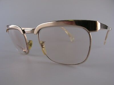Vintage Nigura NG40 Gold Filled Eyeglasses Size 50-22 145 Made in Germany