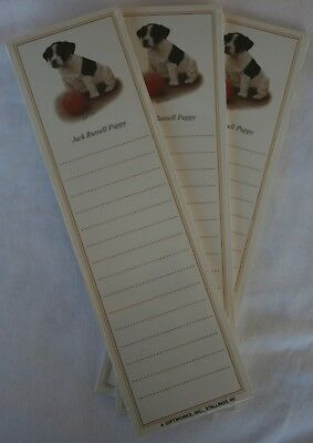 Jack Russell Terrier Puppy Dog Magnetic NOTEPAD Note List Pads - SET of 3
