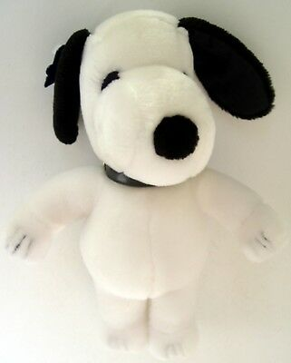 """Vintage 1970's Peanuts SNOOPY 11"""" APPLAUSE PLUSH DOLL w/ DOG COLLAR & TAGS"""