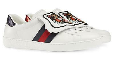 139bb907f6b New Gucci Ladies Current Ace Leather Angry Cat Patch Sneakers Shoes 38 us8.5