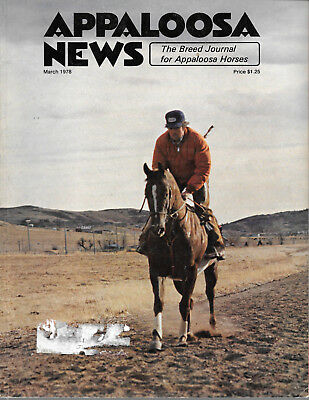 Appaloosa News Horse Magazine March 1978 Equine Breed Journal