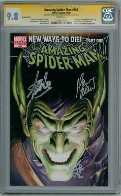 AMAZING SPIDER-MAN #568 ROSS VARIANT CGC 9.8 SIGNATURE SERIES SIGNED x3 STAN LEE