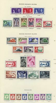 Collection of British Solomon Islands KGVI on leaves cat 200.05 pounds