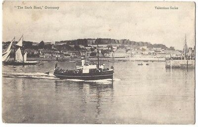 GUERNSEY The Sark Boat, Old Postcard by Valentine, Unused