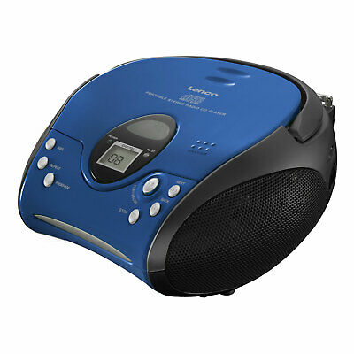 Lenco SCD-24 blau UKW/FM Radio Toplader CD Player Netz- & Batteriebetrieb