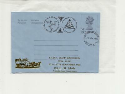 Isle of Man 1980 Overprinted Airletter, ASDA Exhibition, with cachet