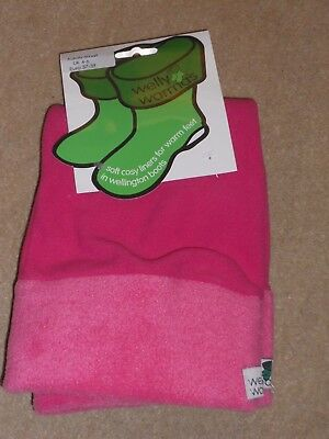 Welly Warmers Size UK 4 - 6 EU 37 - 39 Soft & Cosy Hot Pink