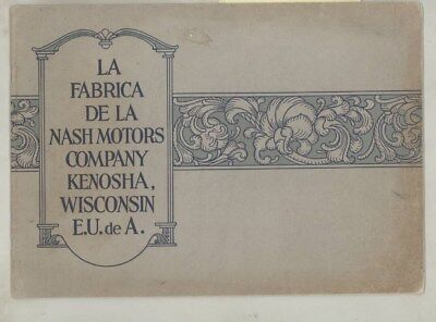1924 1925 1926 ? Nash Automobile Factory Assembly Line Brochure Spanish wz0384