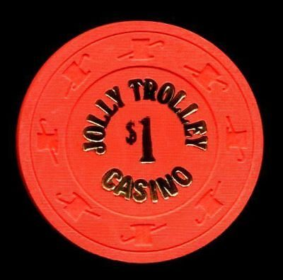 $1 Las Vegas Jolly Trolley Casino Chip - Uncirculated