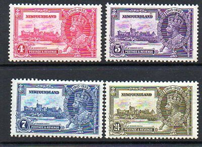 Complete Set Newfoundland Unmounted Mint Silver Jubilee Sg 250-253 1935 F8