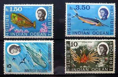 BRITISH INDIAN OCEAN TERRITORY 1968 Fish (4) U/M NC1424