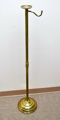 """+ Older Brass Censer Stand - 47 1/4"""" + (CU#207) Church Thurible Boat Spoon"""