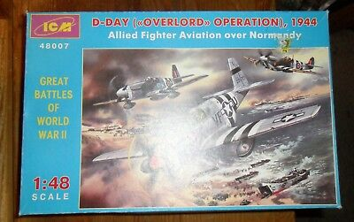 ICM Great Battles Of World War II DDay Allied Fighter Aviation Over Normandy Kit