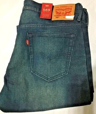 Nwt Mn Levi'S 569 0218 Relaxed Straight Leg Jeans Pant Navy Denim Select Size