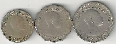 3 OLDER COINS from GHANA - 3 & 6 PENCE and 1 SHILLING (ALL DATING 1958)