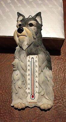 NIB Spoontiques SCHNAUZER Dog Thermometer Wall Figurine Decoration