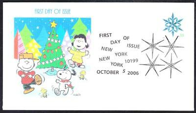 CHRISTMAS Stamp PEANUTS SNOOPY CHARLIE BROWN LUCY First Day Cover 3 MADE 9042y