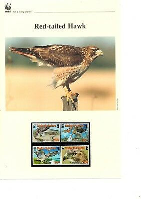 Turks & Caicos - 2007 WWF Red-tailed Hawk MNH stamps and First Day Covers (W4)