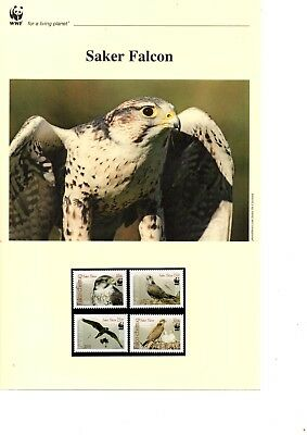 Kyrgyzstan - 2009 WWF Saker Falcon MNH stamps and First Day Covers (W11)