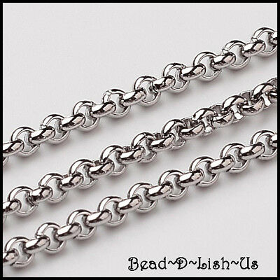 Belcher Chain 2.5x1mm Soldered Links 304 Stainless Steel rolo DIY  - 10 Meters