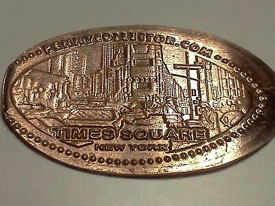 """TIMES SQUARE NEW YORK CITY-Elongated / Pressed Penny-""""copper"""" C-14"""