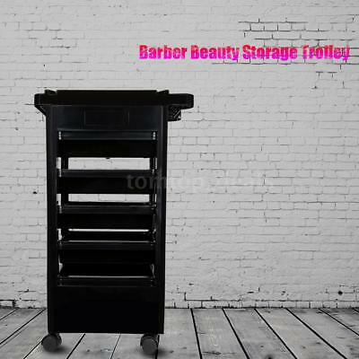 Rolling Hairdressing Trolley Barber Storage Hair Rolling Cart Salon Tool Set B7S