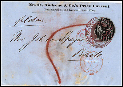 """GB: wrapper one Cent brown from """"NESTLE, ANDREAE & Co."""" to Basle/Switzerla (085)"""