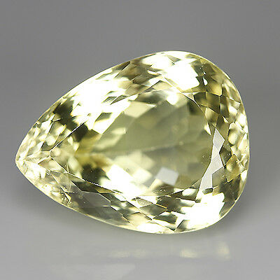 Gorgeous 46.02 Ct Natural Yellow KUNZITE Pear Gemstone @ See Video !!