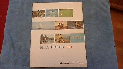 Vintage 1964 Abercrombie & Fitch Play Hours Catalog Liesure Clothing Accessories