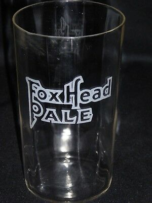 Fox Head Brewing Co Pre-Pro Etched Shell Pale Beer Paneled Glass Waukesha Wis!